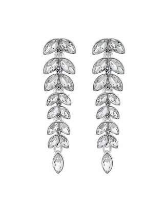 Jon Richard Mood By Silver Leaf Linear Crystal Drop Earrings