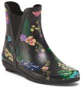 Floral Printed Rain Booties