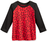 First Impressions Raglan-Sleeve Star-Print T-Shirt, Baby Boys (0-24 months), Only at Macy's