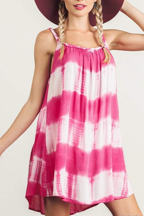 Umgee USA Sleeveless Tie-Dye Dress