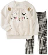 Kids Headquarters White Cat Pullover & Leggings - Infant, Toddler & Girls