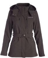 Steve Madden Black Funnel Collar Coat