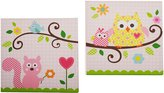 Kids Line 5709CWA Dena Happi Tree Canvas Wall Art, 2-Piece (Pink)