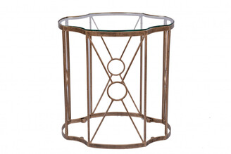 Tantra Tiered Set/2 Side Tables Antique Gold