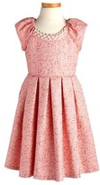Iris & Ivy Embellished Jacquard Dress (Toddler Girls, Little Girls & Big Girls)