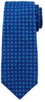 Kiton Diamond & Medallion-Printed Silk Tie