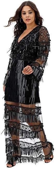 ce838b1a9cd1c5 Plus Size Long Sleeve Maxi Dress - ShopStyle UK