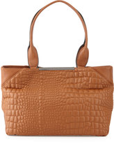 Cynthia Rowley Monica Croc-Embossed Tote Bag