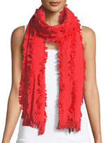 Eileen Fisher Organic Cotton Fringed Scarf
