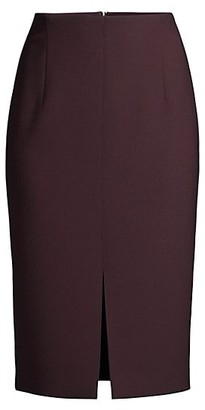 HUGO BOSS Vepeplum Structured Pique Jersey Long Pencil Skirt