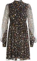 Alexander McQueen Printed Silk Chiffon Dress