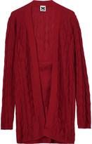 M Missoni Crochet-knit wool-blend cardigan
