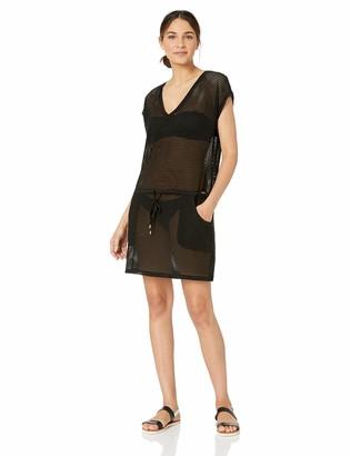 Calvin Klein Women's Mesh Drawstring Tunic Cover Up