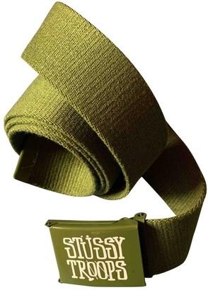 Stussy Green Cloth Belts