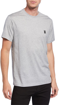 Burberry Men's Parker Logo-Embroidered T-Shirt, Gray
