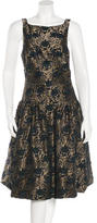 Rochas Jacquard Midi Dress w/ Tags