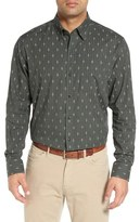 Cutter & Buck 'Maxwell' Jacquard Check Sport Shirt (Big & Tall)