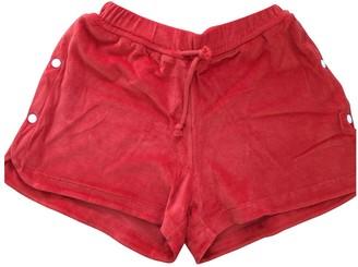 Base Range Orange Cotton Shorts