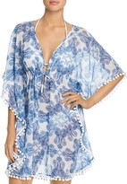 Bleu Rod Beattie Paisley Caftan Swim Cover-Up