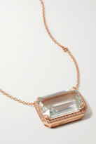 Thumbnail for your product : Shay 18-karat Rose Gold, Topaz And Diamond Necklace
