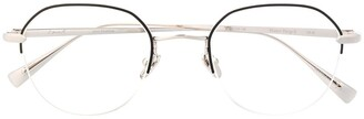 EQUE.M Water Drop round frame glasses