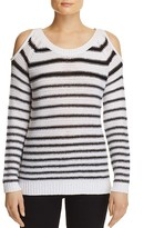 Aqua Stripe Cold Shoulder Sweater - 100% Exclusive