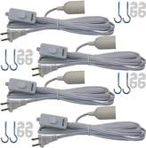 Lightingsky Hanging Light Cord E26 Light Bulb Socket to 2-Prong US AC Power Cord with On/Off Switch