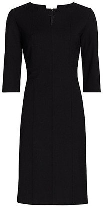 Piazza Sempione Stretch-Wool Three-Quarter Length Sheath Dress