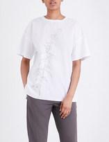 Jil Sander Floral cotton-blend T-shirt