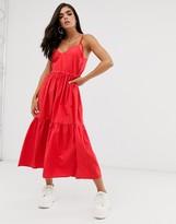 Asos Design DESIGN tiered cami maxi dress