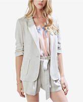 Karen Kane Ruched-Sleeve Single-Button Blazer