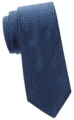 Saks Fifth Avenue Made In Italy Herringbone Silk Tie