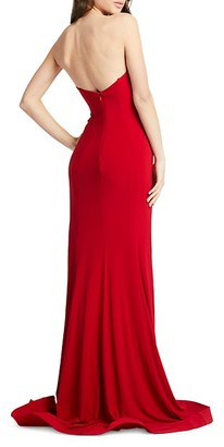 Mac Duggal Plunging Strapless Trumpet Gown