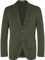 Boglioli - Green Slim-fit Stretch Cotton-blend Suit Jacket