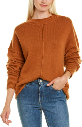Autumn Cashmere Oversized Exposed Seams Cashmere & Wool-Blend Sweater