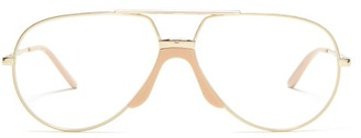 Gucci Aviator Metal Glasses - Womens - Clear