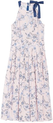 Donna Morgan Floral Halter Neck Stretch Poplin Midi Dress