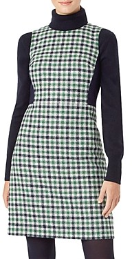 Hobbs London Rosella Plaid Wool Dress