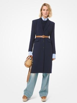 Michael Kors Wool Crepe Broadcloth Coat