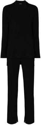 La Perla Lace-Trim Pajama Set