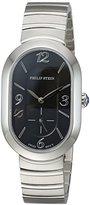 Philip Stein Teslar Women's 'Modern' Swiss Quartz Stainless Steel Casual Watch, Color:Silver-Toned (Model: 74-FB-MSS)