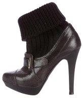 Stella McCartney Rib-Knit Platform Ankle Boots