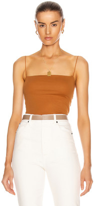 Enza Costa for FWRD Essential Strappy Tank in Toffee | FWRD