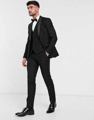 French Connection slim fit tuxedo suit pants
