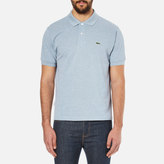 Lacoste Men's Basic Pique Short Sleeve Marl Polo Shirt Celestial Chine