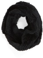 Jocelyn Women's Genuine Rabbit Fur Infinity Scarf