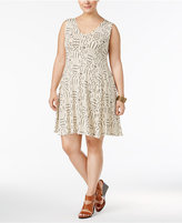 Style&Co. Style & Co Plus Size Printed Swing Dress, Only at Macy's