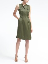 Banana Republic Pintuck Utility Dress