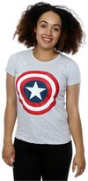 Marvel Women's Captain America Distressed Shield T-Shirt X-Small Heather Grey