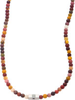 FINE JEWELRY Mens Multicolor Bead Stainless Steel Necklace